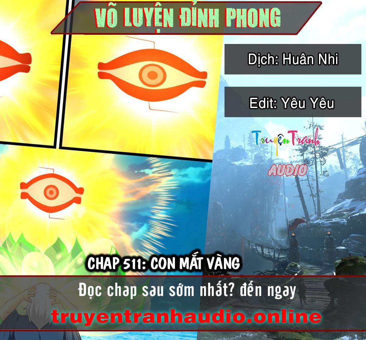 Võ Luyện Đỉnh Phong chap 511 - Trang 1