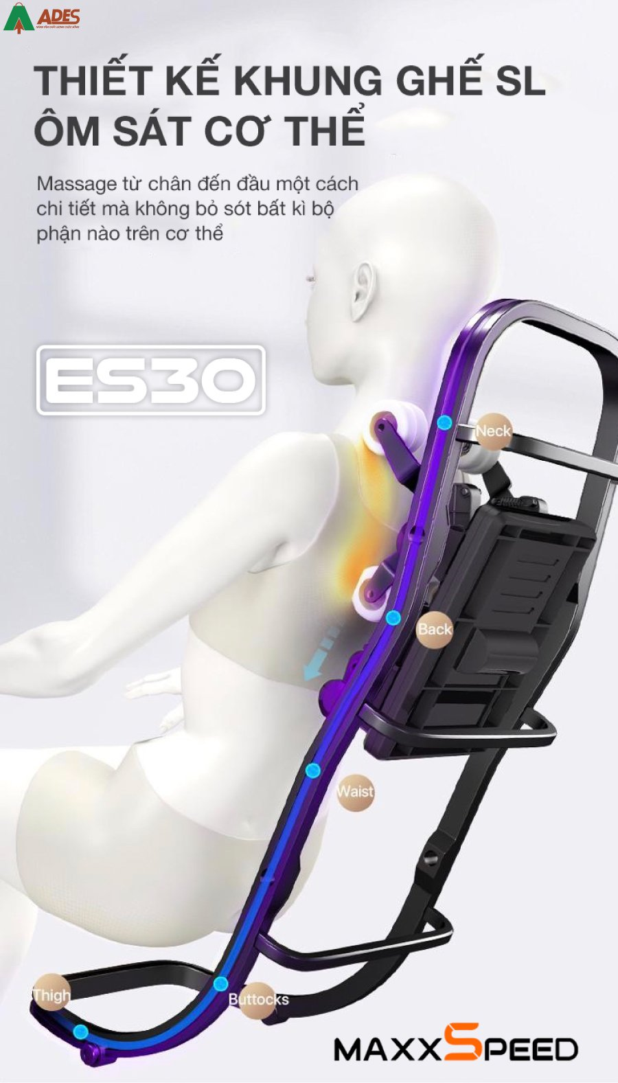 Ghe Massage Azaki Maxxspeed ES30 gia khuyen mai